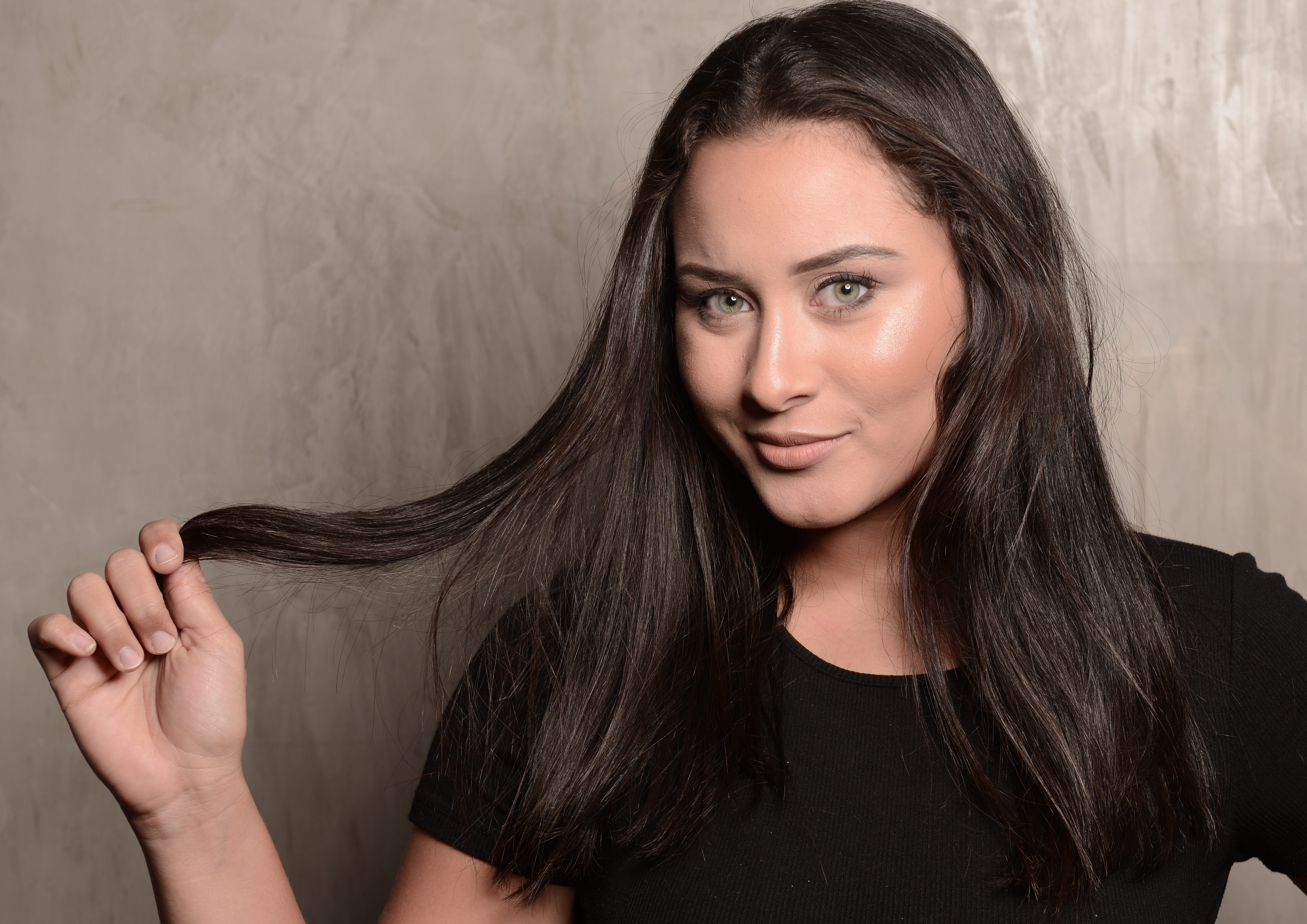 crescimento do cabelo alisado