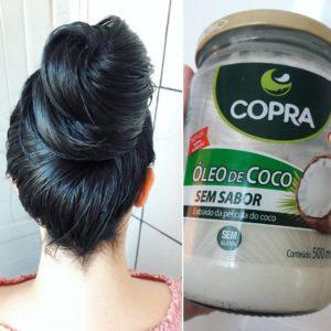 óleo de coco com máscara