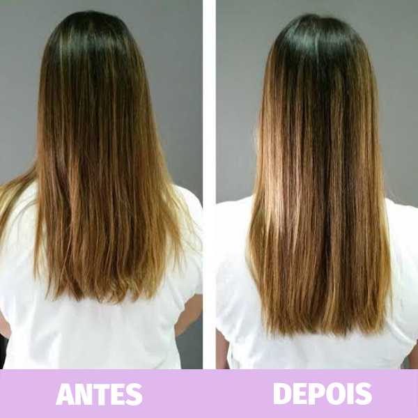antes e depois do shampoo bomba