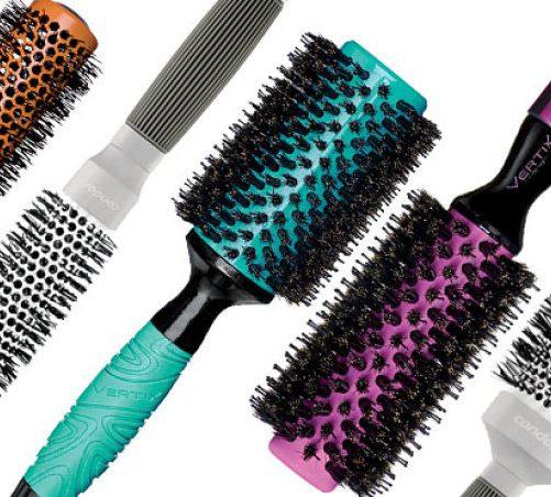 escova de cabelo redonda
