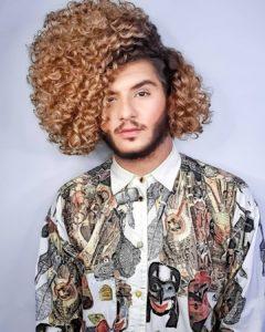 cabelo cacheado masculino definid