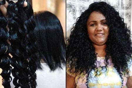 cabelo orgânico cacheado