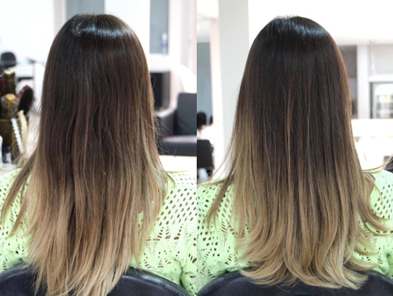 antes e depois corte de cabelo