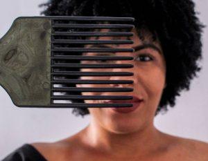 pente garfo para cabelo crespo