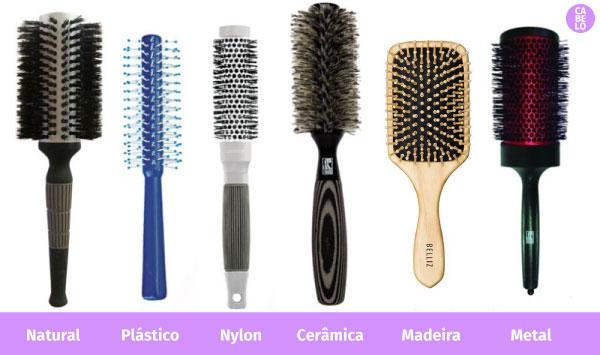 tipos de escova de cabelo
