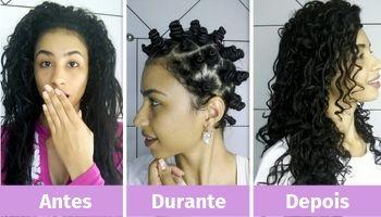 como cachear o cabelo com coquinhos