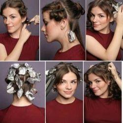 como cachear o cabelo com papel aluminio