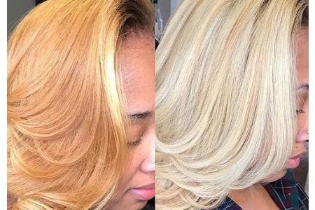 Tons de cabelo platinado