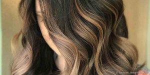 como escolher luzes no cabelo preto