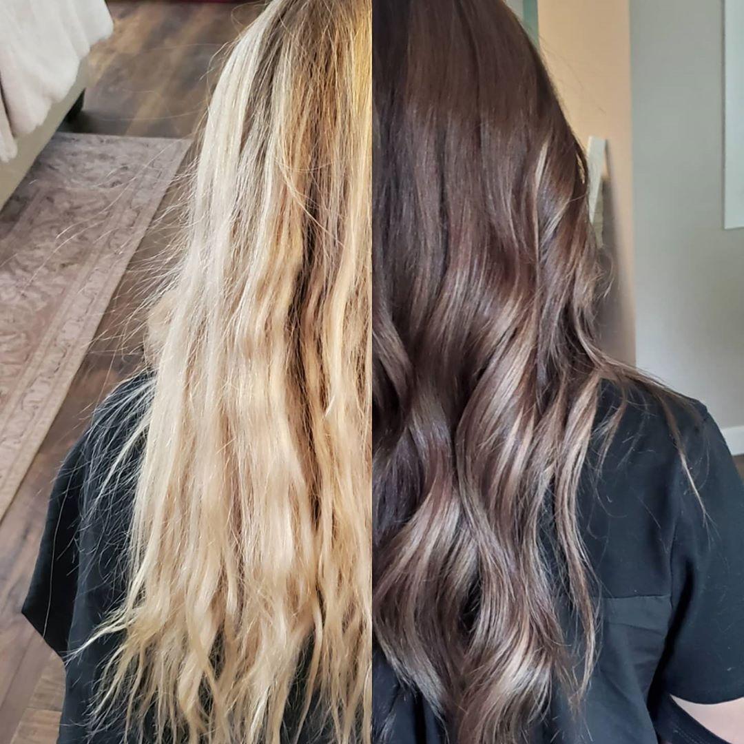 resultado Luzes no cabelo preto