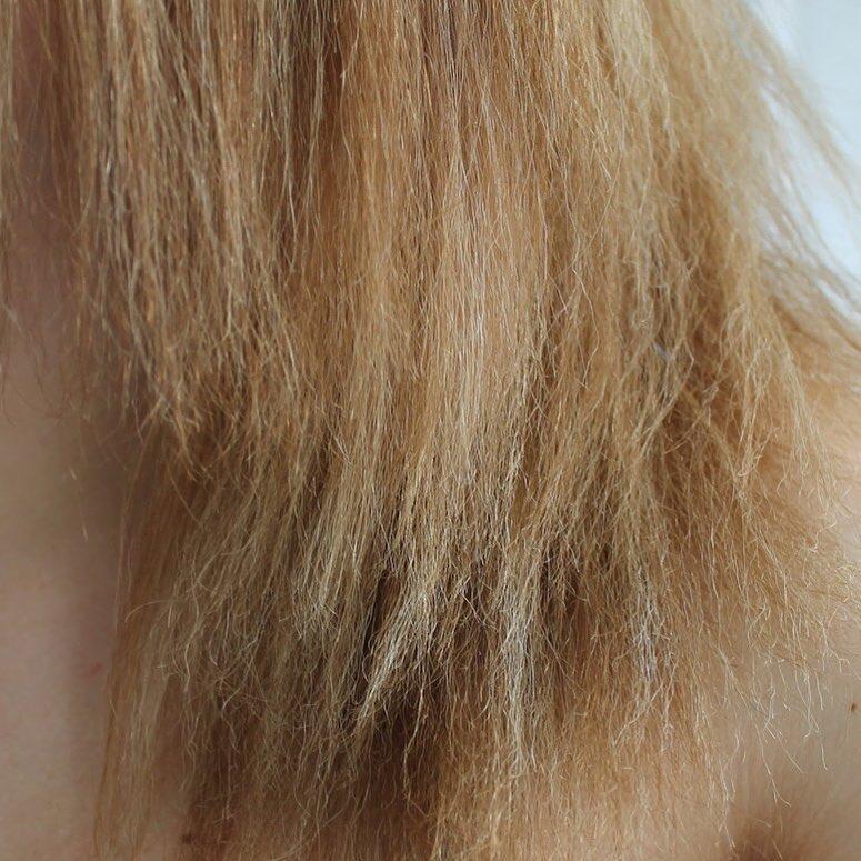 exemplo de cabelo poroso