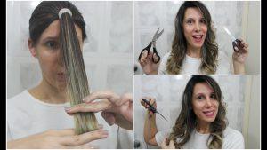 como cortar cabelo sozinha repicado