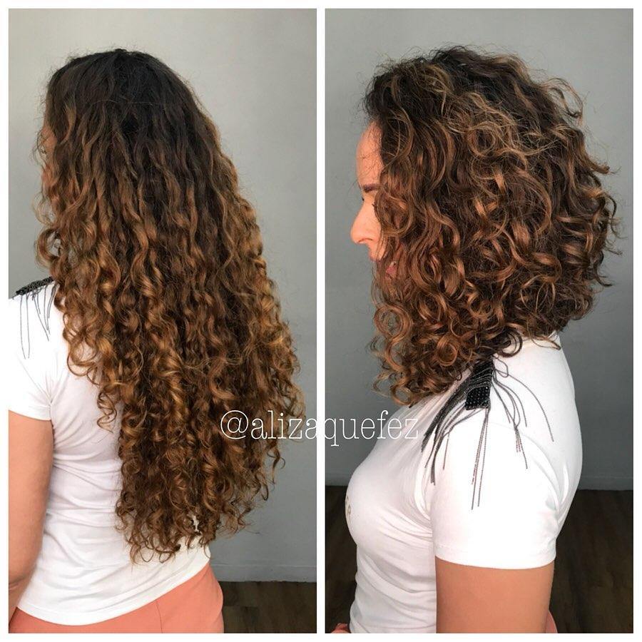 corte de cabelo cacheado medio