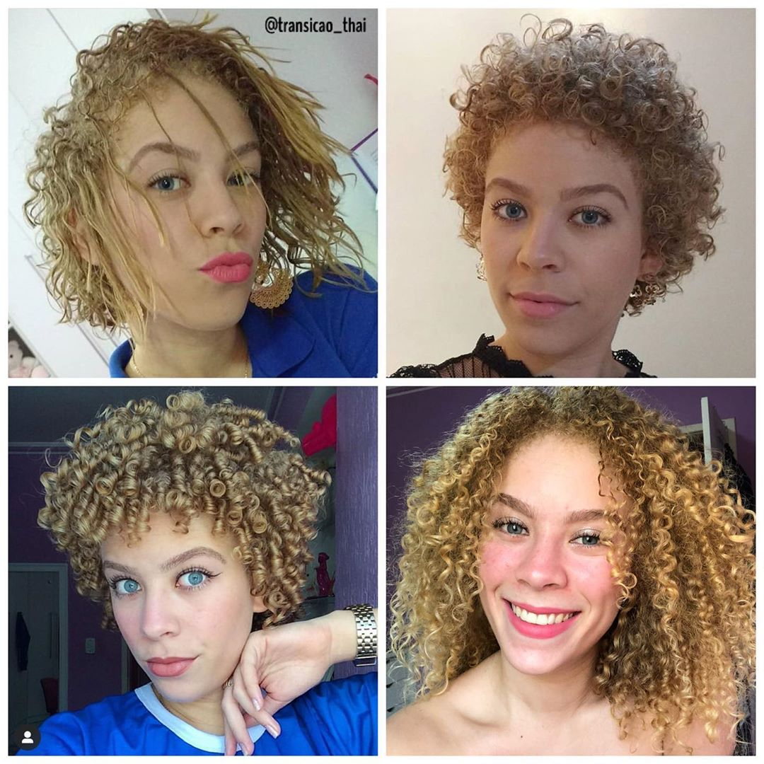 cabelos em transição