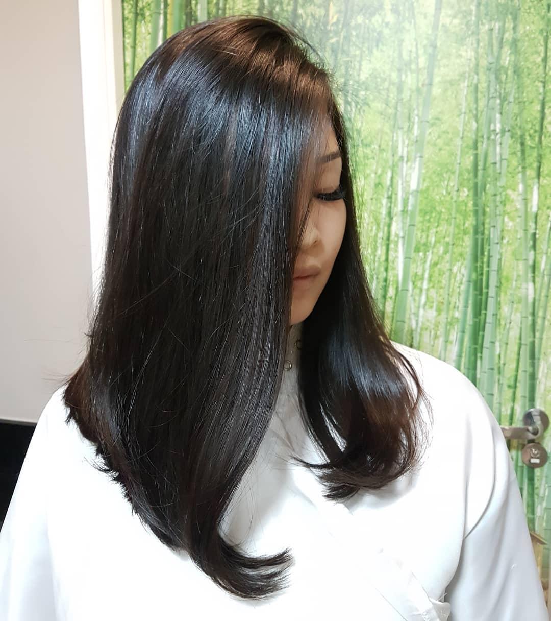 corte de cabelo longo