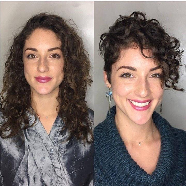 pixie cut antes e depois
