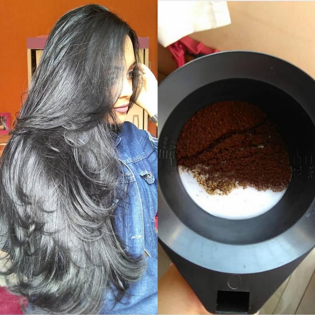 como escurecer o cabelo naturalmente com café