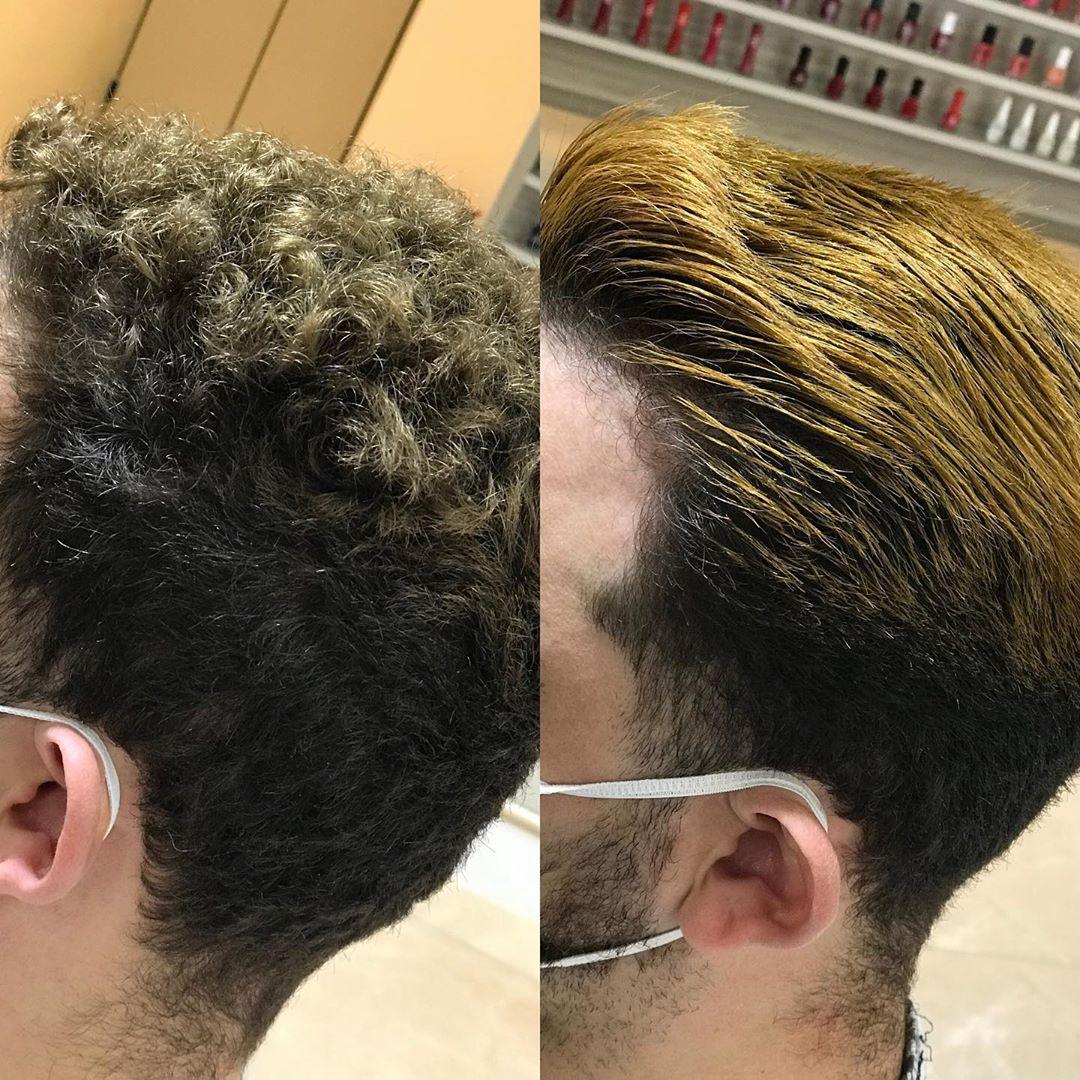 alisar cabelo masculino resultado