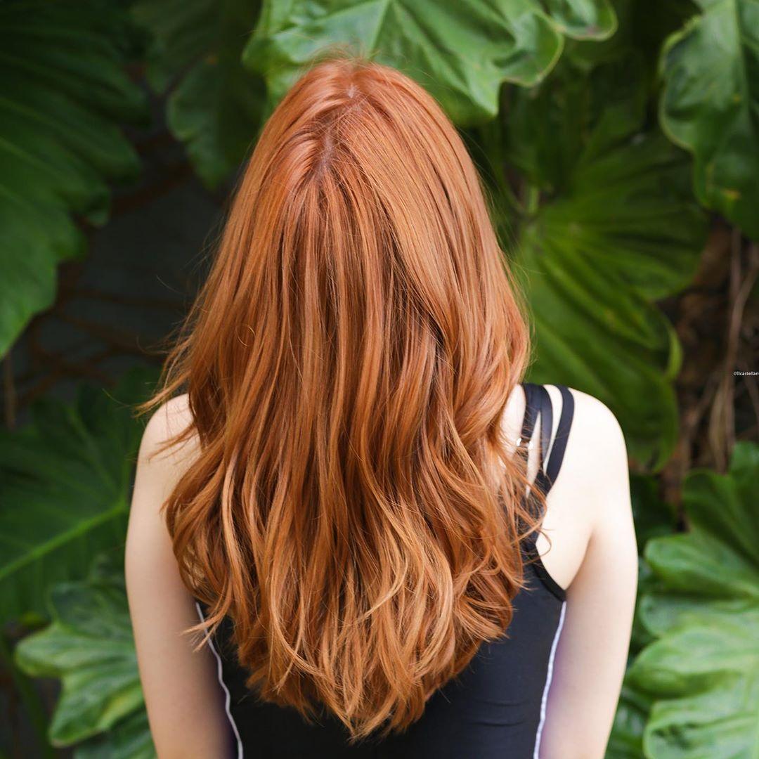 Tabela de cores de cabelo tom de ruivo ideal