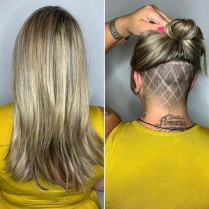 corte undercut em cabelo longo