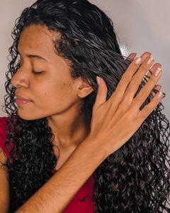 finalização com gelatina para cabelo