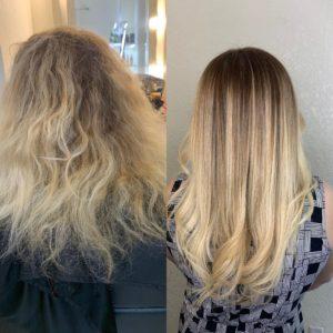 reposição de massa capilar é para cabelos danificados
