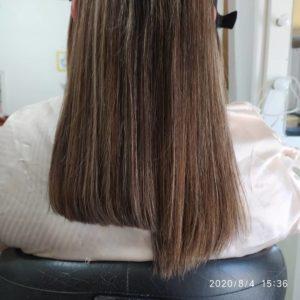 como cortar as pontas do cabelo  antes e depois