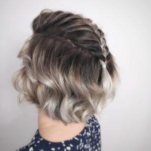 trança em cabelo curto unicórnio