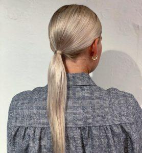 rabo de cavalo baixo para não marcar cabelo escovado