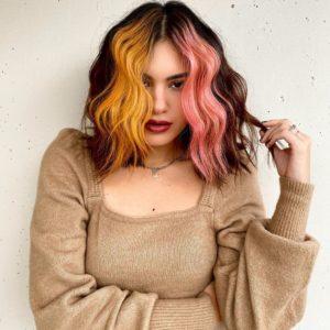teste de mecha para colorir o cabelo