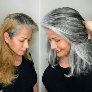 como deixar o cabelo branco disfarçando