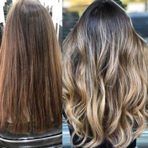 cabelo loiro com raiz escura antes e depois