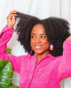 resultado hidratação para cabelo crespo