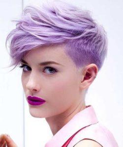 cabelo lilás curto
