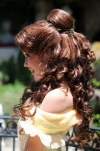 penteado de princesa bela