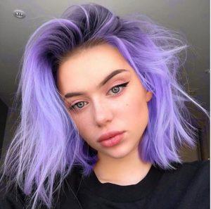 cabelo lilás liso