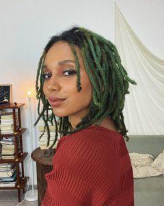 cabelo dreadlock verde