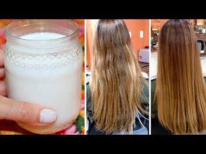 reconstrução com leite no cabelo