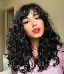 tipos de franja para cabelo ondulado