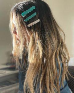 Penteados para festa em cabelo médio presilha